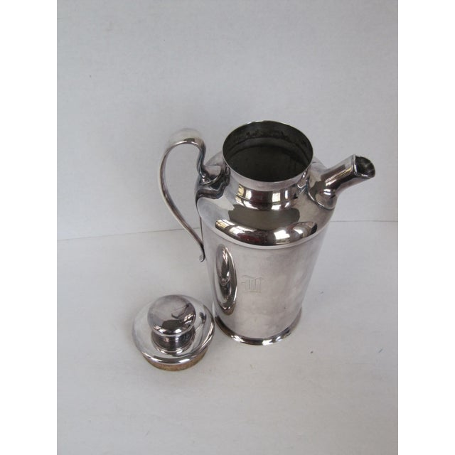 """Art Deco Drink Pitcher with Initial """"D"""" For Sale - Image 11 of 11"""