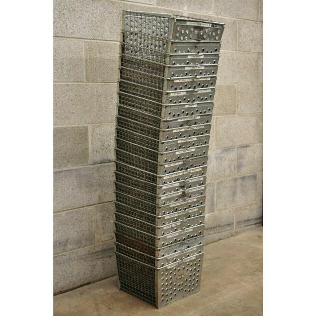 Vintage Kaspar Wire Works Metal Perforated Industrial Storage Gym Locker Baskets ***Price is per basket. Currently 22...