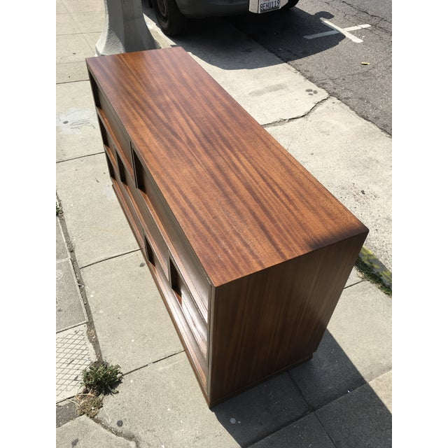 1940s Mid Century Modern Triangle Brand Mahogany Low Dresser For Sale - Image 4 of 11