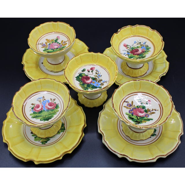1940s Italian Dessert Plates and Compotes For Sale - Image 4 of 10