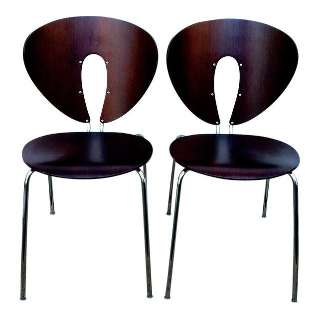Jesus Gasca Veneer Globus Chairs - A Pair For Sale