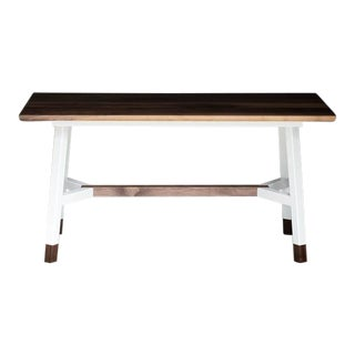 A-Frame, Modern Walnut and Powder Coated Steel Dining Table