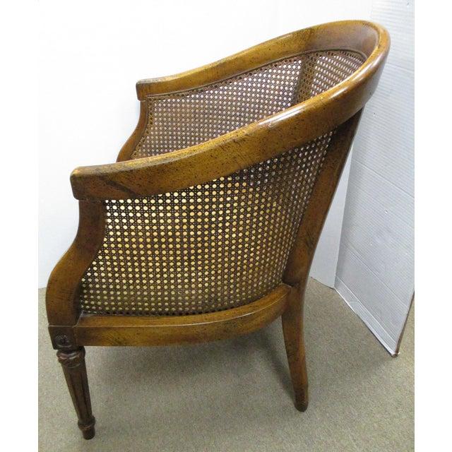 Vintage Cane Back Barrel Chair Chairish