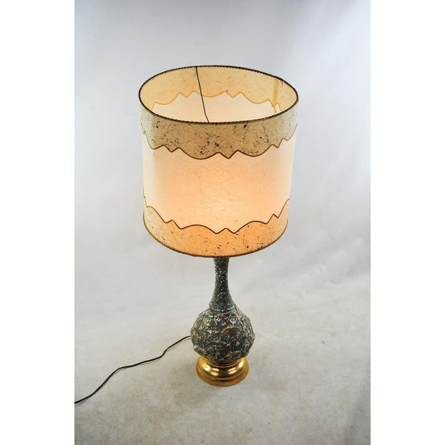 Danish Modern Mid-Century Modern Ceramic Textured Table Lamps - a Pair For Sale - Image 3 of 11