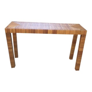 Raffia Parsons Console Table