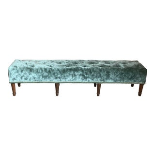 Custom Fabric Tufted Bench For Sale