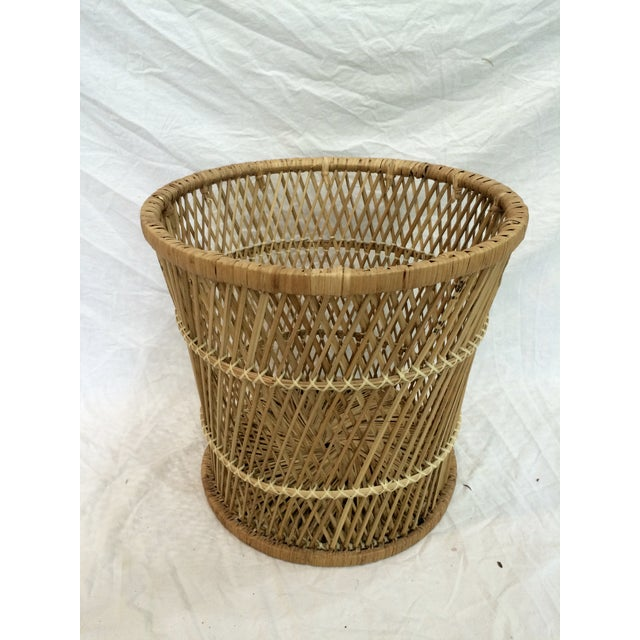 Rattan Wastebasket - Image 5 of 6