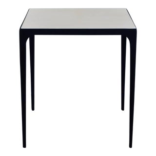Esquisse' Parchment and Wrought Iron Side Table by Design Frères For Sale