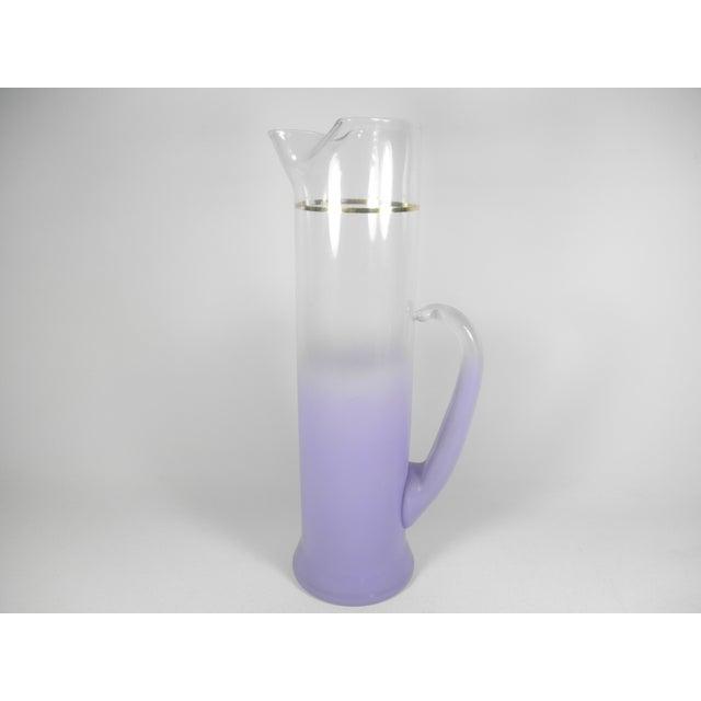 Lavender Martini Pitcher & Glasses - Set of 5 - Image 3 of 5