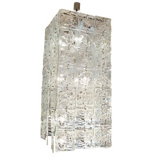 Carlo Nason Large-Scale Rectangular Glass Chandelier Italy circa 1960 For Sale