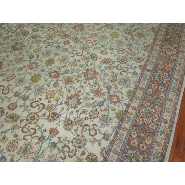 Shabby Chic Ivory Antique Rug, 8'5'' X 11'5'' For Sale In New York - Image 6 of 8