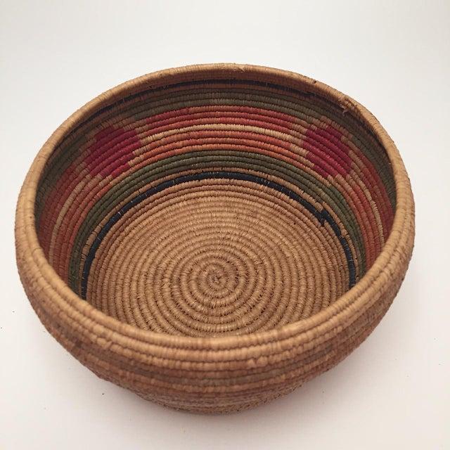 1900 - 1909 Northwest Coast Salish Lidded Coiled Basket For Sale - Image 5 of 13