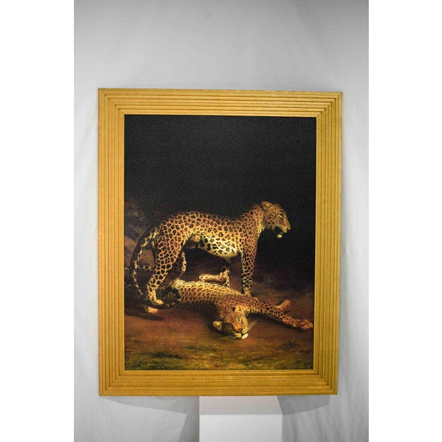 Portraiture Two Leopards Lying in the Exeter Exchange by Jacques-Laurent Agasse Reproduction 47h X 37winches For Sale - Image 3 of 13