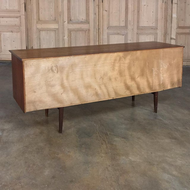 Mid-Century Modern Mahogany Low Buffet For Sale - Image 4 of 13