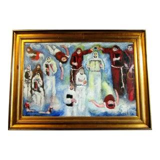 Original Yohanan Simon Anointing Ritual Painting For Sale