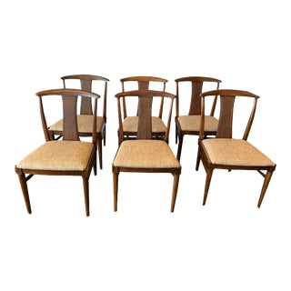 Set of 6 Thomasville Tamerlane Dining Side Chairs Mid Century Modern James Mont For Sale