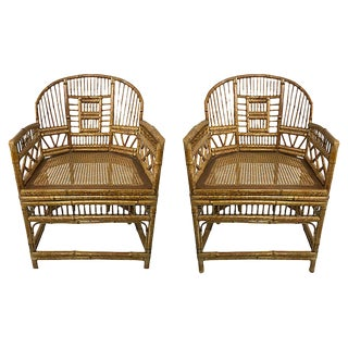 Brighton Pavillion Bamboo Chairs, Pair For Sale