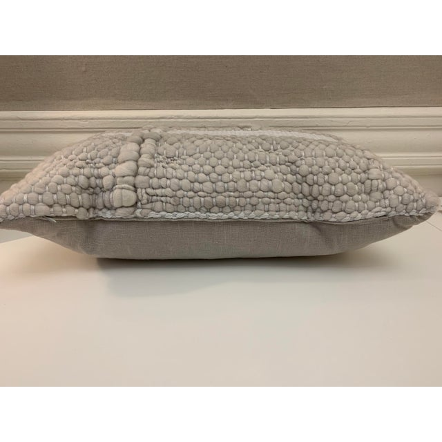 Gorgeous hand spun marino wool lumbar pillow by Pehuen Patagonia Designs. Never been used; perfect condition with...