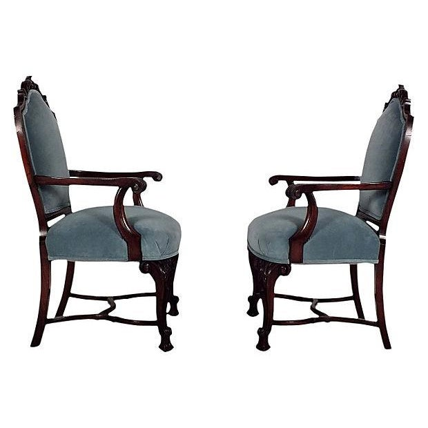 Regency Mahogany Open Armchairs - A Pair - Image 2 of 6