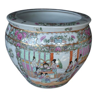 Chinese Rose Medallion Fish Bowl