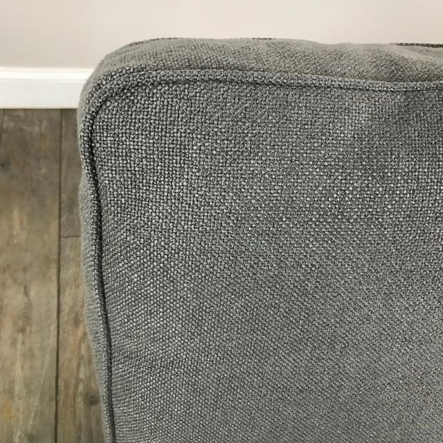 Gray Modern Armless Club Chair - Image 6 of 11