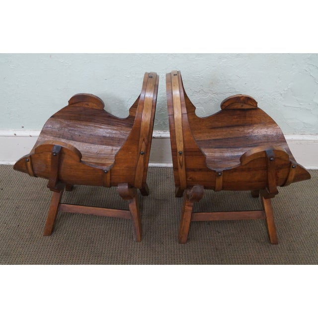 Cabin Vintage Oak Barrel Lounge Chairs - A Pair For Sale - Image 3 of 10