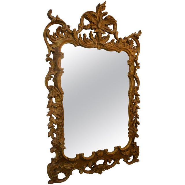 La Barge Chippendale Rococo Style Carved Wood Wall Mirror For Sale In West Palm - Image 6 of 6