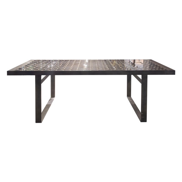 """Gray """"Lens"""" Dining Table by Patricia Urquiola for B&B Italia For Sale - Image 8 of 8"""