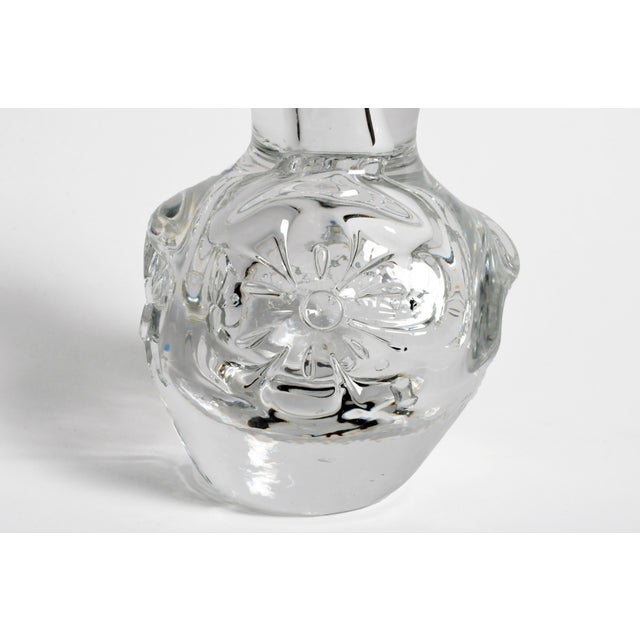 Hand-Blown Glass Imprints of Indian Print Block Vase For Sale In Chicago - Image 6 of 11
