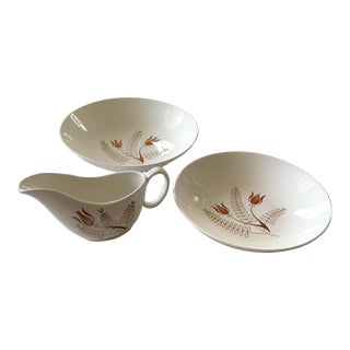 Royal China Ceramic Plate & Pitcher Set 3 Piece For Sale