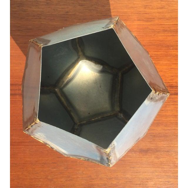 Brutalist Zinc Geometric Planter - Image 2 of 5