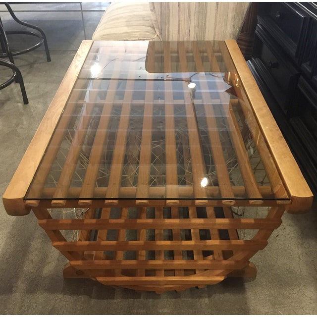 Modern Nautical Lobster Trap Coffee Table - Image 6 of 8