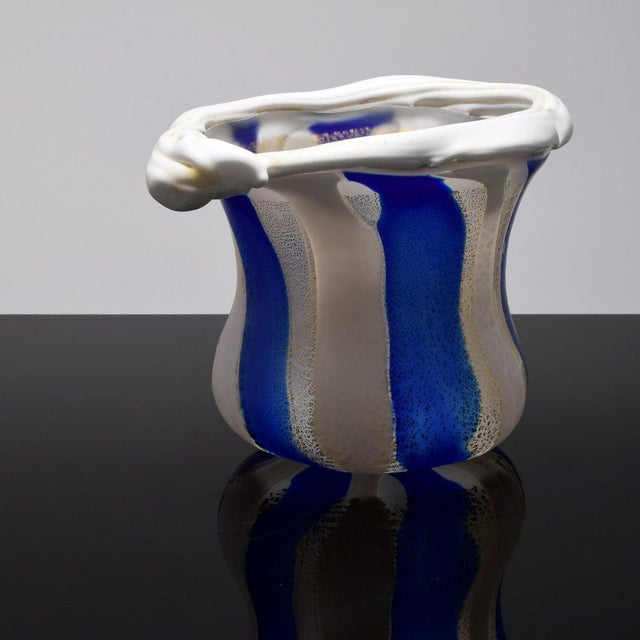 Japanese Art Glass Sculptural Vessel by Kyohei Fujita For Sale - Image 4 of 12