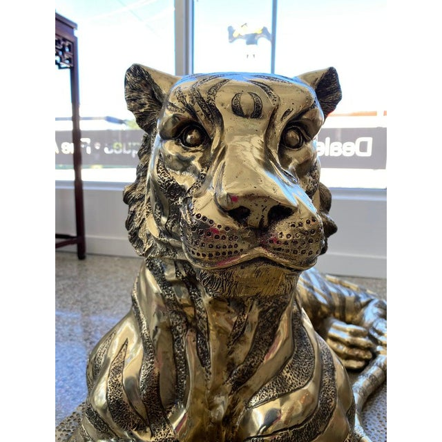 Mid-Century Sculpture Bengal Tiger For Sale - Image 11 of 13