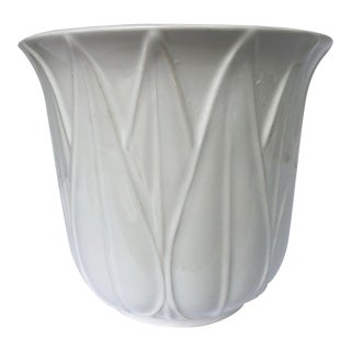 Dansk White Ceramic Cachepot Planter For Sale