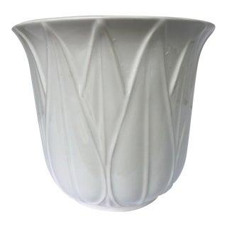 Dansk White Ceramic Cachepot Planter For Sale