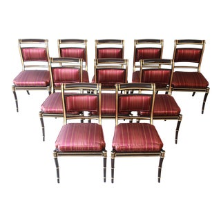 Baker Furniture Stately Homes Collection Regency Dining Chairs, Set of Ten