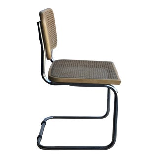 Marcel Breuer Chrome Tubular Cane Seat Dining Chair