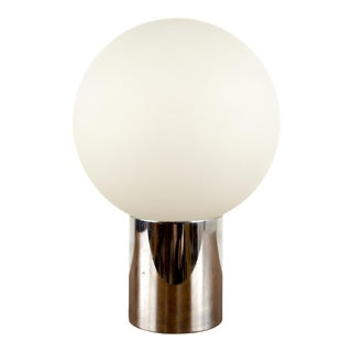 Mid-Century Modern Robert Sonneman Chrome Globe Table Lamp For Sale