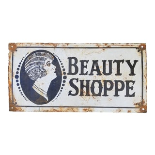 Antique New Orleans Beauty Shop Sign For Sale