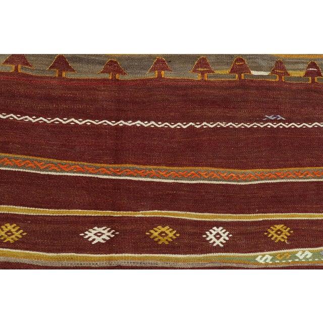 Rug & Kilim Anatolian Kilim Tribal Turkish Kilim Rug-4′8″ × 6′1″ For Sale - Image 4 of 13