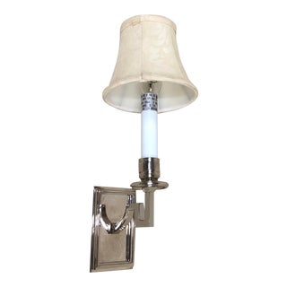 Visual Comfort Dean Library Wall Sconce in Polished Nickel For Sale