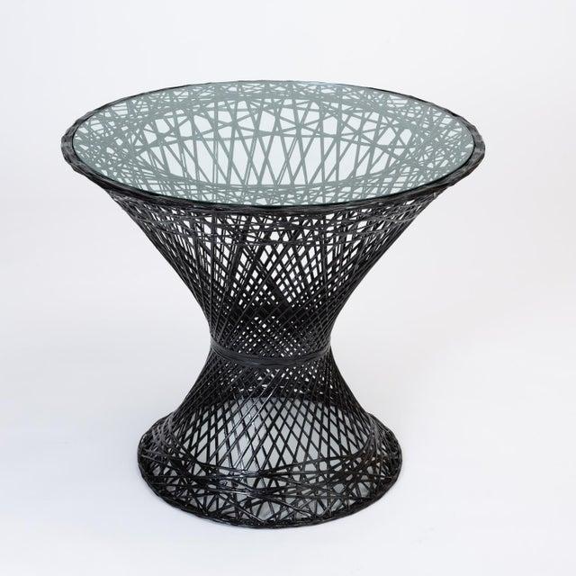 Woodard Furniture Co. Spun Fiberglass Patio Bistro Table by Woodard Furniture For Sale - Image 4 of 7
