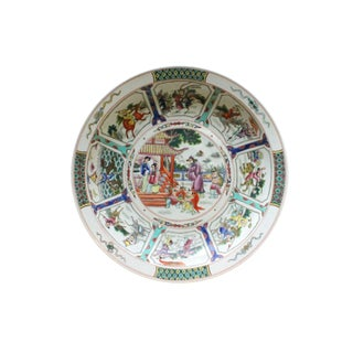 Chinese 12 Zodiac Animals People Fengshui Color Painting Porcelain Plate For Sale
