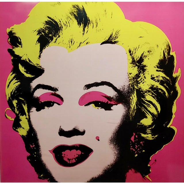 "Andy Warhol Andy Warhol ""Marilyn Monroe""Vintage Screenprint by Sunday B. Morning For Sale - Image 4 of 7"