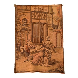 Vintage Mid-Century Belgian Tapestry For Sale