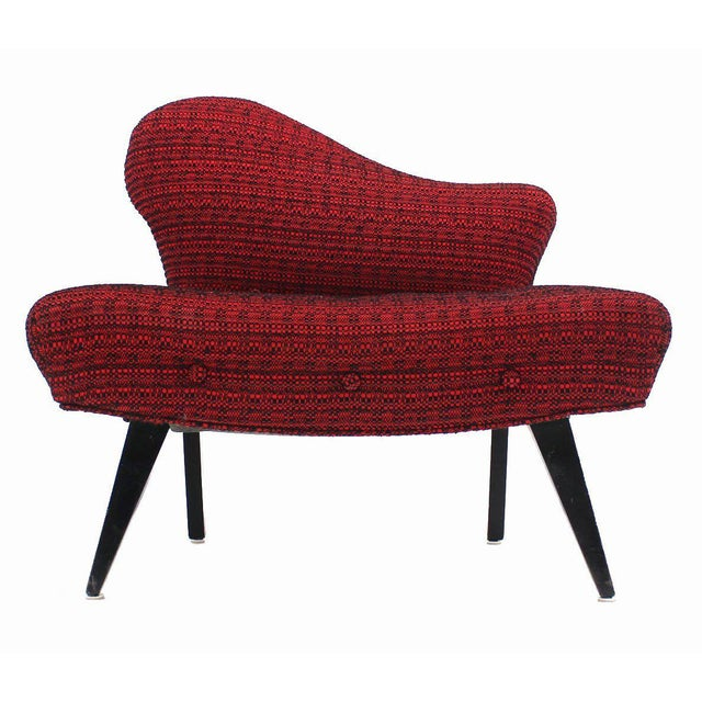 Textile Pair of Fireside Slipper Chairs Fire Bird Shape For Sale - Image 7 of 10