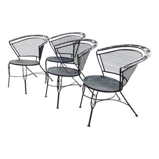 Saterini Wrought Iron Patio Chairs For Sale