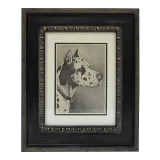 Framed Dog Portrait 4 For Sale