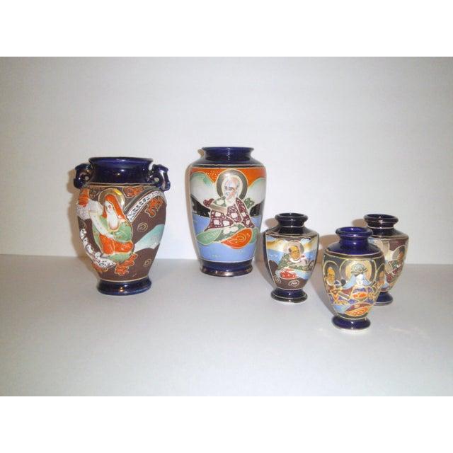 Vintage 1950s Japanese Satsuma Vases - Set of 5 - Image 2 of 11
